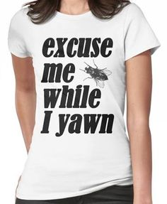 """Ruby Redfort T-shirt - """"excuse me while I yawn"""" print tee"""