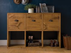 The Six Plank Cubbyhole Storage. Create and customise a unique storage piece from Indigo's range of storage and cubbyhole cubes. Indigo Furniture, Cube Furniture, Solid Wood Furniture, Dining Room Furniture, Furniture Ideas, Cube Unit, Wooden Cubes, Storage Drawers, Storage Units