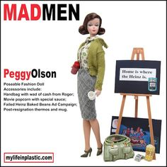 Photographer Modifies Barbie Dolls After 'Mad Men' Characters - Peggy