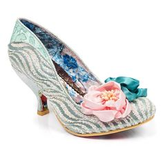 <p>A mid heel with plenty of sass, this eye catching beauty has all the makings of an elegant shoe with a catwalk swagger.</p> <ul> <li>Mid heel</li> <li>Glittery upper</li> <li>Flower embellishments</li> </ul> <p></p>