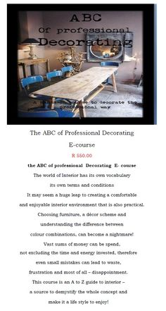 ABC of interior design Interior Design Courses, World Of Interiors, Interior Styling, Decor, Interior Decorating, Decoration, Decorating, Deco