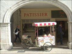 Street scene in La Rochelle, France