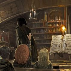 Snape teaching potions from the Philosophere's Stone
