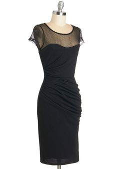 Fete for a Queen Dress in Black   Mod Retro Vintage Dresses   ModCloth.com