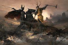 An illustration from 'The World of Ice & Fire' by George R.R. Martin. Rhaegar Targaryen...