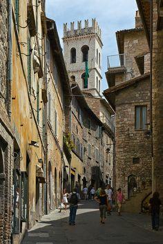 Via Portica   Assisi Umbria Italy