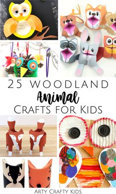 Looking for easy woodland animal crafts for kids to make at home or preschool? Here is a list of 25 forest animal crafts for kids that children will love, as they make perfect fall crafts for kids to make! Find these woodland animal kids crafts + other easy autumn crafts for kids ideas here! Forest Animal Kids Crafts | Cute Fall Crafts for Kids Autumn | Forest Animal Crafts for Kids Art Projects | Woodland Animal Crafts Preschool Forest Friends #KidsCrafts #FallCrafts #AnimalCrafts Paper Animal Crafts, Forest Animal Crafts, Animal Crafts For Kids, Paper Animals, Forest Animals, Woodland Animals, Easy Fall Crafts, Crafts For Kids To Make, Easy Animals