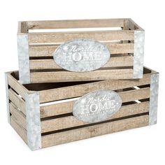 2 caisses en bois L 32 et L 39 cm HOME | Maisons du Monde  http://www.homelisty.com/ou-trouver-caisses-en-bois-cagettes/