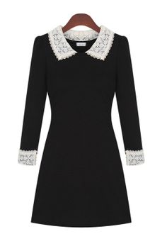 Lace Trim Dress - I'm not sure why, but I'm drawn to this dress. I think it'd look awful on me... but... something about it...
