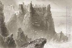 Dunluce Castle, County Antrim, Northern Ireland by (after) Bartlett, William Henry