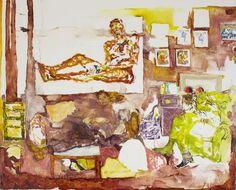 "Jennifer Packer, Jordan  42"" x 54""  oil on canvas  2014"