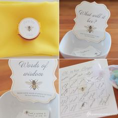 a few details from Tara's bee themed yellow baby shower