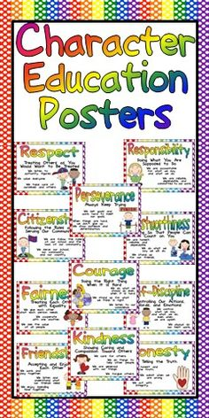 Character Education Posters-Writing-Activities-Awards for ...