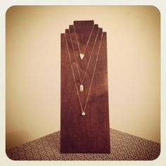 Handmade Wooden Necklace Display. Craft Show Display. Jewelry Display.