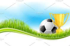 Soccer ball and football trophy banner design by Vector Tradition SM on Fireplace Tv Wall, Football Trophies, Entertainment Center Furniture, Club Design, Reference Letter, Football Stadiums, Tv Decor, Sports Clubs, Decorating Small Spaces