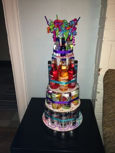 Samantha's bachelorette party beer/drinks cake! So excited #bachelorette #cake #wedding