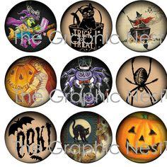 1 Zoll-Halloween-Kreisen. Digitaler download von TheGraphicNest