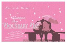 Valentines Dinner poster for Boundary Bay Brewery, 2008