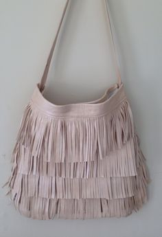 GENUINE LEATHER FRINGE BAG