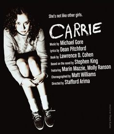 "CARRIE: The Musical -  Is it the campy train wreck we were all secretly hoping it would be?  Does it solve every problem from the infamous Broadway flop?  No and no.  But it's an interesting look at a piece of theater history without all the distracting awfulness that sunk it the first time, and now it's an interesting lesson in ""what could have been"".  Strokes of genius throughout, some great music and lots of conversation to be had after."