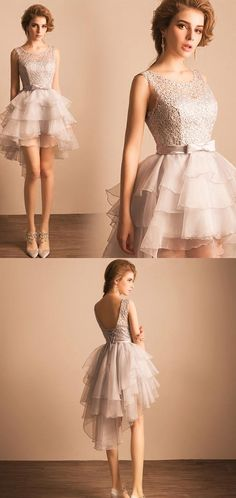 Short Prom Dresses, Lace Prom Dresses, High Low Prom Dresses, Prom Dresses Short, Silver Prom Dresses, Short Homecoming Dresses, Prom Dresses Lace, High Low Homecoming Dresses, High Low Dresses, Lace Up Prom Dresses, Bowknot Party Dresses, High-Low Prom Dresses, Sleeveless Homecoming Dresses