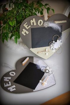 """Memo board: with a little paint """"slate"""" and good ideas, this DIY . Mothers Day Crafts, Crafts For Kids, Diy Crafts, Dad Day, Mother And Father, Kids And Parenting, Special Day, Fathers Day, Valentines"""