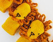 Eco Friendly Organic Finger Puppet Lion Wild Animal Toy