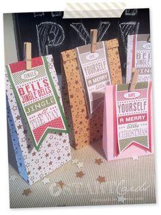 DIY - Last minute - Christmas gift bag - Geschenktüte für Weihnachten - Tutorial - Anleitung - Vorlagen zum ausdrucken - Printable FREEBIES