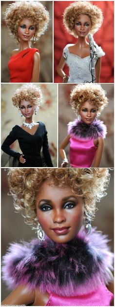 Whitney Houston (Repainted Barbie) by Noel Cruz
