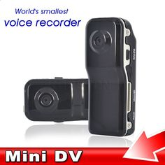 Mini Camera Camcorder MD80 DV DVR 720P HD DVR for Outdoor Hiking Bike sport Video Audio Recorder Black with A Holder and Clip