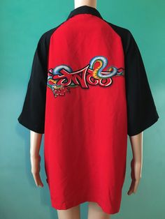 JNCO JEANS Vtg. Red and Black Viper Graphic by OddballlVintage