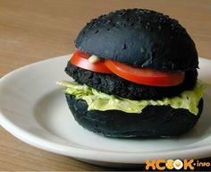 рецепт черного бургера