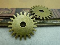 20 Stück bronze Zahnrad Charms Pendant Anhänger