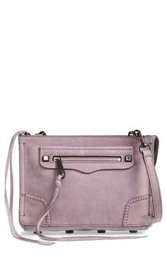 Free shipping and returns on Rebecca Minkoff 'Regan' Crossbody Bag at Nordstrom.com. A chic clutch shaped from supple cowhide leather features long, trailing laces for a bit of flirty movement with every step. Subtle whipstiched detailing contributes to the boho-chic style, while lacquered black and silvertone hardware adds a touch of street-smart edge.