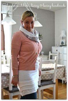 Schwedenmädchen bags & more: Ein weißes Kleidchen... Jerseykleid by #allerlieblichst