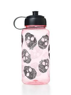 Water Bottle PINK skulls victoria secret