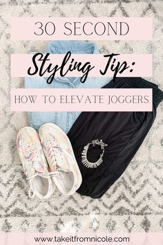 You CAN wear your loungewear out of the house with the right styling tips. I paired my favorite joggers with a chambray shirt to elevate the outfit for a chic look. Midsize fashion blogger | amazon fashion | Target style | tretorn statement tie dye sneakers