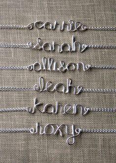 Bridesmaid Jewelry Name Bracelet Sterling by vintagestampjewels, $28.00