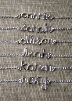 Bridesmaid Jewelry Name Bracelet Sterling by vintagestampjewels, $28.00