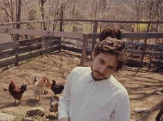 Bob Dylan and some chickens....
