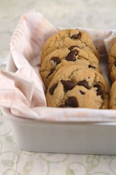 Best Chewy Chocolate Chip Cookies - Gluten Free & Dairy Free. You'd have to use Vegan Chips to make it dairy free though b/c there is milk in milk chocolate chips, IJS...