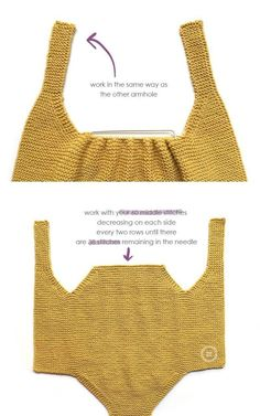 Knitted Baby Romper made with garter stich- DIY Pattern & Tutorial