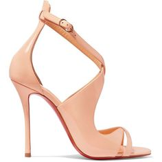 Christian Louboutin Malefissima patent-leather sandals (2.830 BRL) ❤ liked on Polyvore featuring shoes, sandals, heels, scarpe, christian louboutin, pink sandals, strappy sandals, high heel shoes, high heels sandals and pink shoes