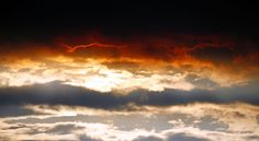 The sky over the site of a lava eruption on the Holuhraun fissure on Sept. 1, 2014.