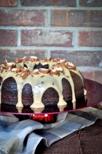 Chocolate-Coffee Cake with Kahlua Sauce