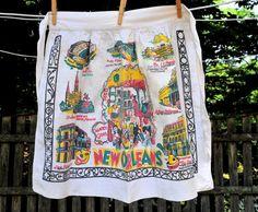 VTG 1960's City of New Orleans Half Apron / Mardi by CicelysCloset
