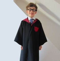 Wizard Cloak Harry Potter Robe Hogwarts Ron by SewingPatternPixie