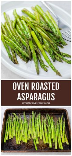 The best and easiest way to cook asparagus! This oven-roasted asparagus is a great side dish and a tasty way to add more veggies to your diet. #ovenroastedasparagus #asparagus #ovenroastedveggies #easyasparagus #deliciousveggies