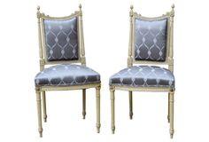 Italian   Louis XVI-Style Chairs,  Pair