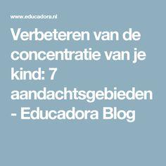 Verbeteren van de concentratie van je kind: 7 aandachtsgebieden - Educadora Blog